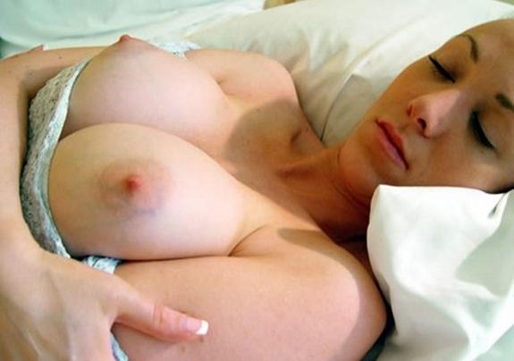 Sleeping Chick has Perfect Fucking Titties