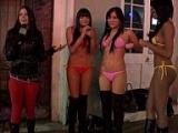 Bikini Hoola-hoops in the street