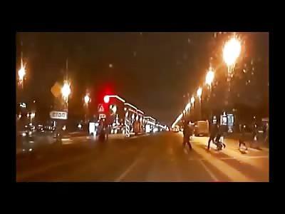 Elderly Woman Run Over by Van at Crosswalk
