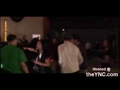 Nikki Hilton Watches Intense Fight Out Side LA Nightclub