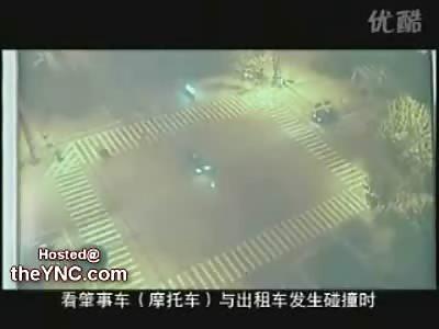 Biker vs. Car at an Intersection