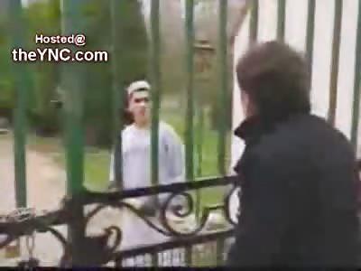Reporter is Brutally Beaten by a Teacher of the Koran