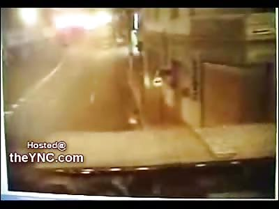 Biker Beheaded by a Large Truck