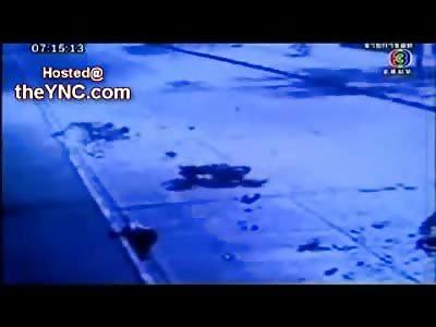 BRUTAL Head On Crash Kills 2 Bikers Instantly (Some Aftermath Included)