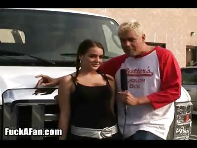 Natasha Nice fucks her biggest fan in a van