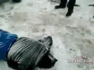 Death on a Snowy Road: 1 Girl and 2 Guys Run their 4 Wheeler into a Bus