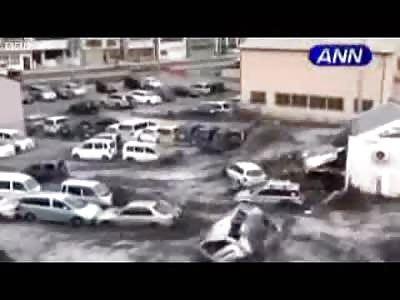 Japan Earthquake: Footage of Moment Tsunami Hit