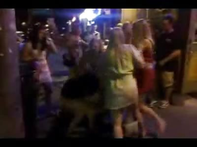 More Slutty American Teen Girls Fighting on the Street