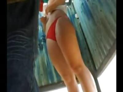 Stalker Films Girl Changing in Dressing Room