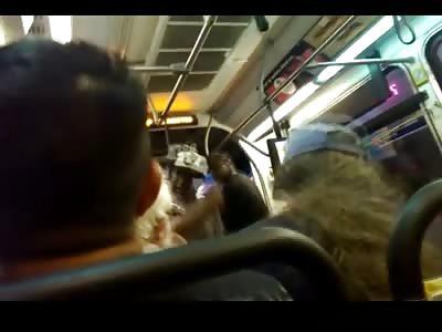 Racist Black Man Bullies Elderly Man on a Public Bus in Los Angeles