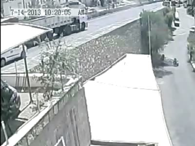 Man Drives Backwards off of a 4 Story Bridge.....