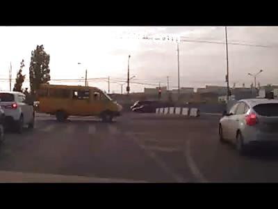 AbsolutelyBrutal & Fatal Head on Collision when Biker Runs into a Cement Barrior Wall