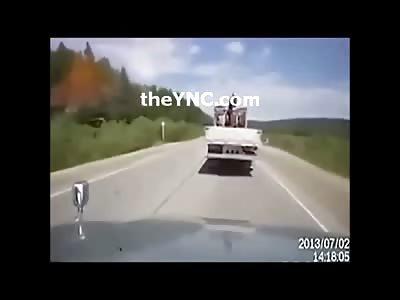 Car Full Blown Disintegrates on Camera