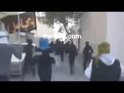 Men set a Town on Fire with Massive Molotov Cocktail Assault