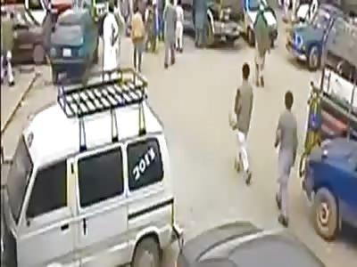 Suicide bomber blast caught on CCTV