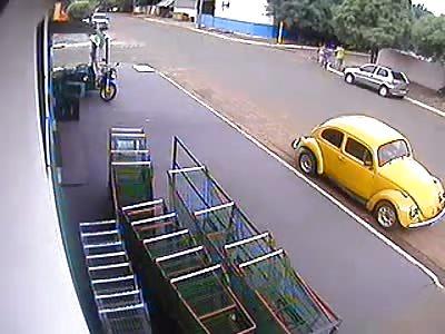 Funny Accident in Brazil