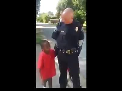 Little Black Kids Arrest White Police Officer