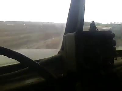 Russian terrorists shoot a village in the Luhansk region