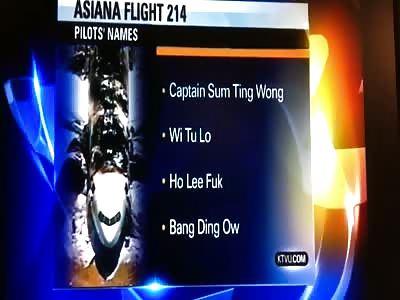 BREAKING NEWS - Asiana Pilots Names Released