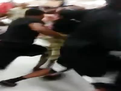Black Thugs Skip School To Brawl Inside Walmart