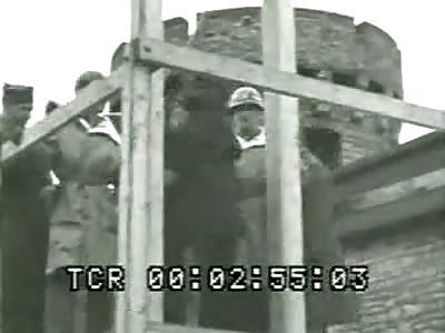Hanging of Nazis - Bruchsal, Germany - 12. Jan. 1946