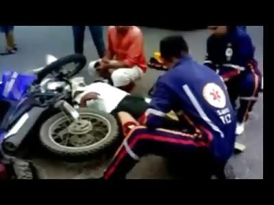 Mans Knee Broken Through his Skin....OUCH!!!