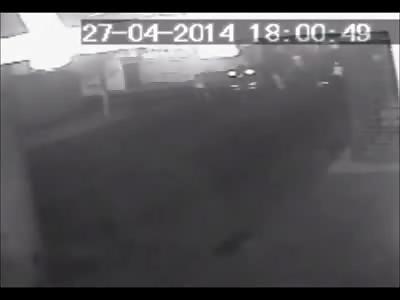 Pedestrian hit by Motorcyclist