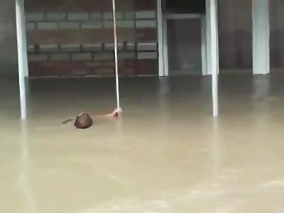 Man drowns in water