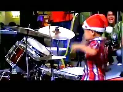 3yr old Drummer