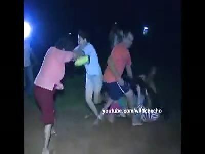 pelea en pumpo mucho  mexicano