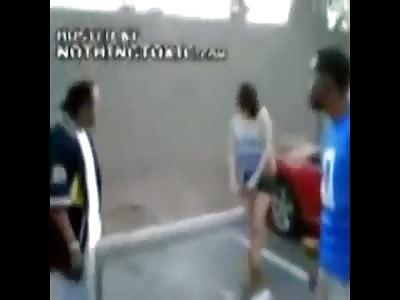 White Girl Knocks out Racist Black Guy