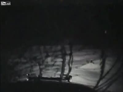 SCARY NIGGERGHOST ATTACKS POLICECAR