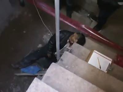 BIZARRE DEATH: MAN FALLS AND HIS HEAD GOES RIGHT THROUGH IRON BAR
