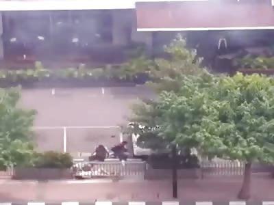 BOMB EXPLOSION IN JAKARTA - BETTER IMAGE (2 TERRORISTS BLOWN UP)