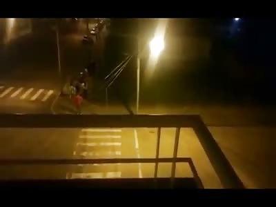 Crazy Driver Attacks his Ex..then Runs Over an Innocent Pedestrian