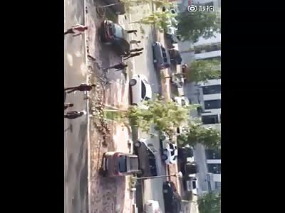 Guys brutally beaten by spade men
