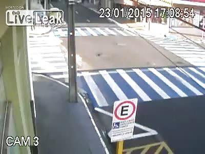 Slippery paint coating on crosswalk=accident