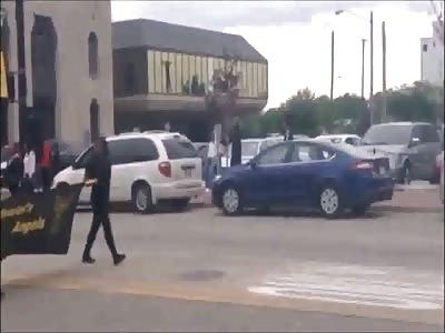 Video shows motorcyclist crash into dancer in Draymond Green parade Saginaw Michigan