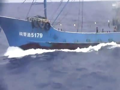 China secret ship rams Japan Coast Guard ship