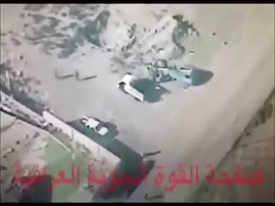 Iraqi Ch-4B Drone Attack ISIS Gathering in Ramadi