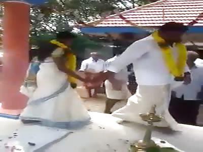 Bride Embarrasses Groom at Wedding