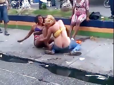 Hookers street brawl