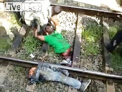 Man Cut in Half by Train But Still Alive