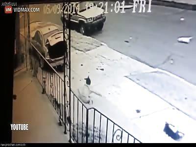 Speeding Car fleeing Police strikes a 8yr old girl on CCTV Cams.
